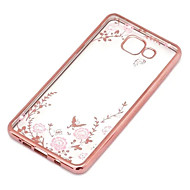 For Samsung Galaxy etui Transparent Etui Bagcover Etui Blomst TPU for Samsung J7 J5 (2016) J5 J3