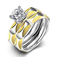 Parringe Kvadratisk Zirconium Zirkonium Kvadratisk Zirconium Rund form Mode Smykker Bryllup Fest Daglig Afslappet 1 Sæt