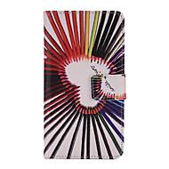 Mert Samsung Galaxy tok Kártyatartó / Pénztárca / Állvánnyal / Flip Case Teljes védelem Case Szív Műbőr Samsung J1 (2016)