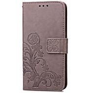 Na Samsung Galaxy Etui Etui na karty / Portfel / Z podpórką / Flip / Wytłaczany wzór Kılıf Futerał Kılıf Kwiat Skóra PU SamsungS5 Mini /