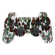 Brun og grøn Camouflage Dual-Shock Bluetooth V4.0 trådløs controller til PS3