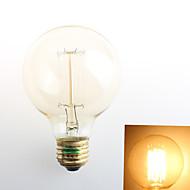 1個 Zweihnder E26/E27 40W 1 COB 550 lm 温白色 G80 edison ビンテージ フィラメントタイプLED電球 交流220から240 V