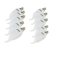 3W E14 Ampoules Bougies LED 8 SMD 2835 200 lm Blanc Chaud / Blanc Froid Décorative AC 100-240 V 10 pièces