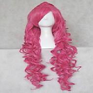 moda cosplay peruka różowy włosy syntetyczne kobiety długie faliste animowane kreskówki peruki peruki pełną perukę