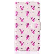 Para Samsung Galaxy Capinhas Carteira / Porta-Cartão / Com Suporte / Flip / Com Relevo Capinha Corpo Inteiro Capinha Flor Couro PU Samsung