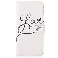 Para Samsung Galaxy Capinhas Porta-Cartão / Carteira / Com Suporte / Flip / Com Relevo Capinha Corpo Inteiro Capinha Palavra / FraseCouro