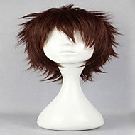 Popular Cosplay Wig Natural Wigs Man's Wigs Dark Brown Short Curly Animated Synthetic Hair Wigs