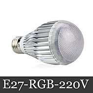 1 pcs E27 15W 3X 72LM RGB Remote-Controlled Globe Bulbs AC 220-240V