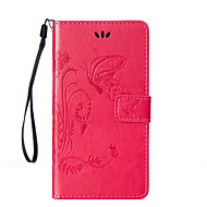 Πλήρης Σώμα πορτοφόλι / Βάση Καρτών / με Stand / Αναρρίπτω Πεταλούδα Συνθετικό δέρμα Σκληρό Case Cover για το SonySony Xperia C5 Ultra /