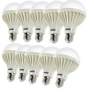 Youoklight® 10PCS E27 5W 9*SMD5630 450LM 3000K Warm White Light LED Globe Bulbs (AC220V)