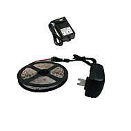 ZDM™ 5M 300X3528 Smd White Led Strip Light and Connector and Ac110-240V to Dc12V2A Transformer
