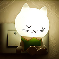 Creative Warm White Sleepy Cat Light Sensor Relating to Baby Sleep Night Light