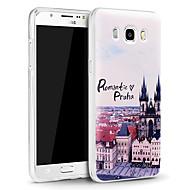 Varten Samsung Galaxy kotelo Koristeltu Etui Takakuori Etui Kaupunkinäkymä TPU Samsung J5 (2016)