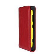 Για Θήκη Nokia Ανοιγόμενη tok Πλήρης κάλυψη tok Μονόχρωμη Σκληρή Συνθετικό δέρμα Nokia Nokia Lumia 620 / Nokia Lumia 530 / Nokia Lumia 520