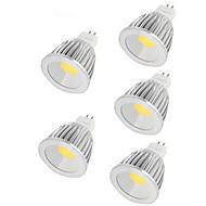 7W GU5.3(MR16) LED-spotlampen MR16 1 COB 550LM lm Warm wit / Koel wit DC 12 V 5 stuks