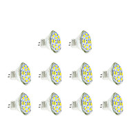 3w gu4 (mr11) levou spotlight mr11 12 smd 5730 250 lm quente / legal branco dc12v 10 pcs
