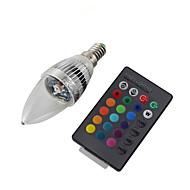 youoklight® E14 3W fjärrstyrd ledde ljus lampa färgglada ljus 240lm - silver (ac 110-120V / 220-240V)