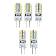G4 1.5W 24*5 SMD 3014 500 LM Natural White T LED Corn Lights DC 12 V