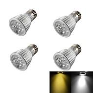 5W E26/E27 LED-spotlampen R63 5 Krachtige LED 400 lm Warm wit / Koel wit Dimbaar / Decoratief AC 85-265 / AC 220-240 / AC 110-130 V4