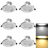 3W Verzonken lampen 6 SMD 5730 300 lm Warm wit / Koel wit Decoratief AC 85-265 / AC 220-240 / AC 110-130 V 6 stuks