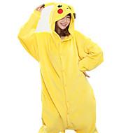 Kigurumi Pajamas New Cosplay® / Pika Pika Leotard/Onesie Halloween Animal Sleepwear Yellow Patchwork Coral fleece Kigurumi Unisex