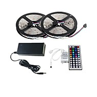 2×5M 150X5050 SMD RGB LED Strip Light and 44Key Remote Controller and 6A AU Power Supply (AC110-240V)