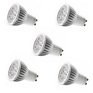5pcs HRY® 5W GU10/GU5.3/E27/E14 5LEDS 550LM Warm/Cool White Color Light LED Spot Lights(85-265V)