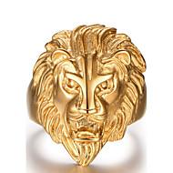 Herre Statement-ringe Mode kostume smykker Rustfrit Stål Dyreformet Løve Smykker Til Daglig Afslappet Sport Julegaver