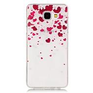 Sprawa soft telefonu TPU wysokiej czystości półprzezroczysty ażurowy wzór miłości Galaxy A310 / A510