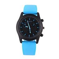 Voor Stel Modieus horloge Vrijetijdshorloge Kwarts Vrijetijdshorloge Silicone Band Zwart Wit Blauw Orange Geel rozeZwart Oranje Geel Roos