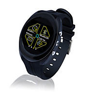 SIMカードスロット、マルチメディアとステンレス鋼ラウンドスマート腕時計の電話