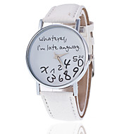 Whatever I'm Late Anyway Watch With Leather Band/ Unisex Watch, Quartz Analog Wrist Watch Cool Watches Unique Watches Fashion Watch