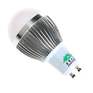 3W GU10 Ampoules Globe LED A60(A19) 6 SMD 5730 280lumens lm Blanc Chaud / Blanc Naturel Décorative AC 100-240 V 1 pièce
