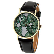 Tropical Palm Leaves Floral Watch,Vintage Style Leather Watch,Women Watches,Boyfriend Watch,Men's watch,Summer Green Cool Watches Unique Watches