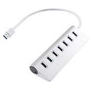USB 3.0 7 porte / interfaccia di alluminio hub USB 17 * 3 * 5.5