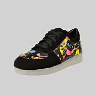 femmes conduit chaussures de recharge USB baskets mode en plein air / sport noir / casual