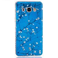 Mert Samsung Galaxy tok Átlátszó Case Hátlap Case Virág Puha TPUJ7 / J5 (2016) / J5 / J3 / J2 / J1 (2016) / J1 Ace / J1 / Grand Prime /