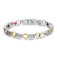 Women's Jewelry Health Care Silver & Gold Titanium Steel Magnetic Therapy Bracelet