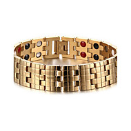 Magnetic Therapy Bracelet men's Jewelry Health Care Gold Stainless Steel Bracelet