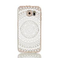 Voor Samsung Galaxy S7 Edge Transparant / Patroon hoesje Achterkantje hoesje Kanten ontwerp Zacht TPU S7 edge / S7 / S6 edge / S6