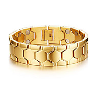 Magnetic Therapy Bracelet Men's Jewelry Health Care Silver Titanium Steel Bracelet