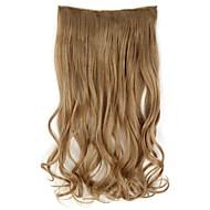 20 Inch lange synthetische Golvend Clip In Hair Extensions met 5 clips - 17 kleuren leverbaar