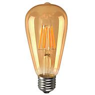 6W E26/E27 LEDボール型電球 ST64 6 COB 580 lm 温白色 装飾用 / 防水 AC 85-265 V 1個