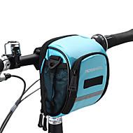 ROSWHEEL® 자전거 가방 1.8L자전거 핸들바 백 방수 지퍼 방습 충격방지 착용할 수 있는 싸이클 가방 PU 피혁 메쉬 의류 400D 나일론 싸이클 백 사이클링 18*11*10
