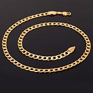 u7® 18k klobig Gold gefüllt Halskette figaro Ketten hohe Qualität franco Halsketten-Kette für Männer 55cm Schmuck 5mm