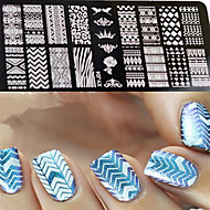 1pcs  New Nail Art Stamping Plates  DIY Geometric Image Templates Tools Nail Beauty XY-J04
