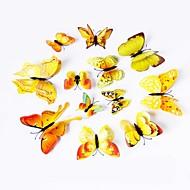 12 stuks 3D simulatie vlinder pvc muurstickers kunst aan de muur stickers (verschillende kleuren)