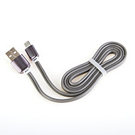 carga rápida usb alumínio cabo de cabo de 2,0 carregador para samsung cabo geral smartphone Android (1,0 m)