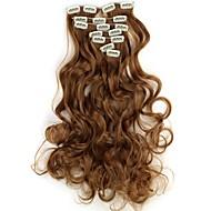 18 Inch 7pcs/set Lang Syntetisk bølgede klip i Hair Extensions med 16 klip - 16 farver