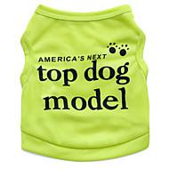 고양이 / 개 티셔츠 그린 / 블루 / 핑크 / 로즈 강아지 의류 여름 꽃 / 식물 패션